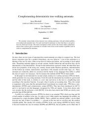 Complementing deterministic tree-walking automata - LaBRI