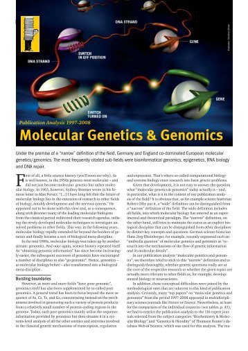 Molecular Genetics & Genomics