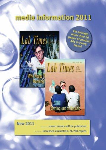 media information 2011 - Labtimes online