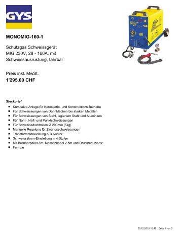 MONOMIG-160-1 1'295.00 CHF