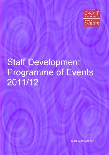 the new Staff Development Programme. Included - Cardiff University