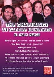 THE CHAPLAINCY - Cardiff University