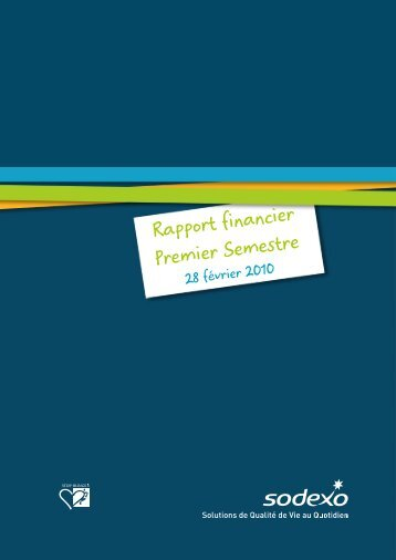 Rapport financier Premier Semestre