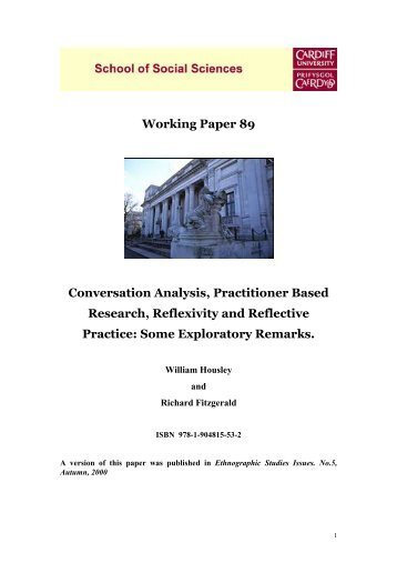 Paper 89: Conversation Analysis, Practitioner Based Research ...