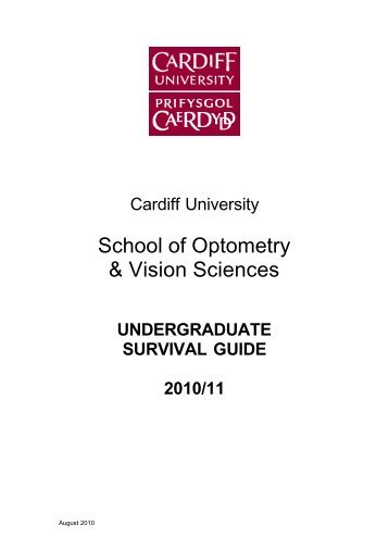 School of Optometry & Vision Sciences - Cardiff University