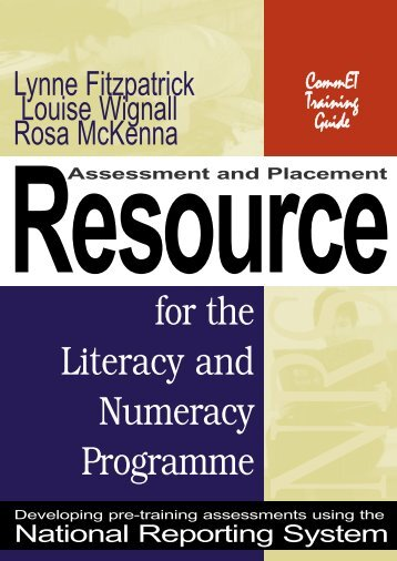 Assessment and placement resource for the Literacy and