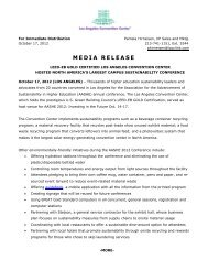 MEDIA RELEASE - Los Angeles Convention Center