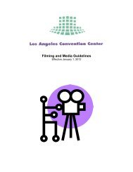 Filming and Media Guidelines - Los Angeles Convention Center