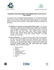 construction and demolition debris recycling policy fact sheet