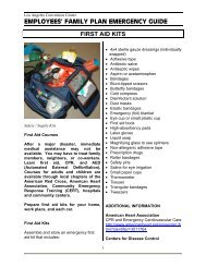 First Aid Kits PDF - Los Angeles Convention Center