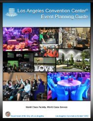 Event Planning Guide PDF - Los Angeles Convention Center