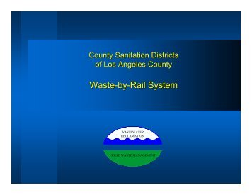 Waste to Rail Presentation - Los Angeles Chamber of Commerce