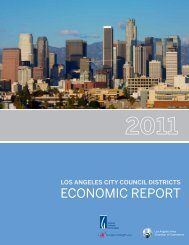 Los Angeles City Council Districts: 2011 Economic Report