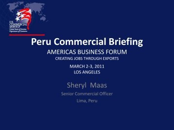Peru Commercial Briefing - Los Angeles Chamber of Commerce