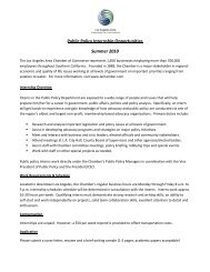 Public Policy Internship Opportunities Summer 2010 - Los Angeles ...
