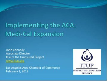 ITUP Presentation - Los Angeles Chamber of Commerce