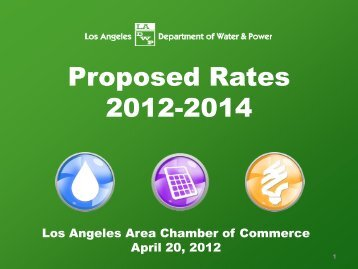 LADWP presentation - Los Angeles Chamber of Commerce