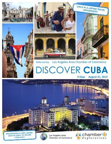 DISCOVER CUBA - Los Angeles Chamber of Commerce