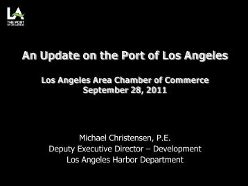 Presentation - Los Angeles Chamber of Commerce