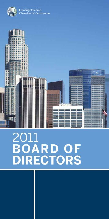 2011 BOARD OF DIRECTORS - Los Angeles Chamber of Commerce