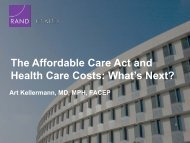 The Affordable Care Act and Health Care Costs: What's Next?