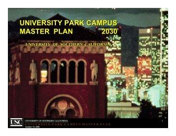 USC Master Plan Presentation