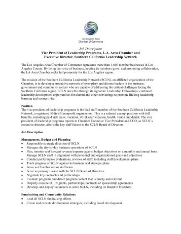 Job Description FXU Vice President – Participation - Bamshop.co.uk