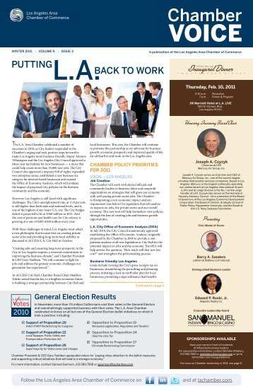 Putting L.A. Back to Work - Los Angeles Chamber of Commerce