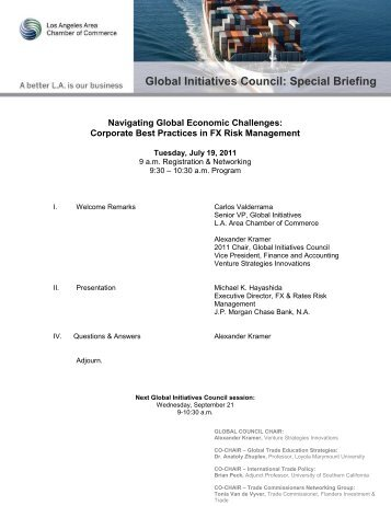 Global Initiatives Council: Special Briefing - Los Angeles Chamber ...