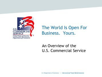 Presentation by Julie Anne Hennessy, U.S. Department of Commerce
