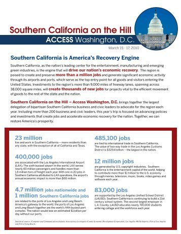 Southern California on the Hill - Los Angeles Chamber of Commerce