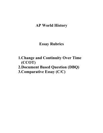 ap world history dbq 2006 sample essay