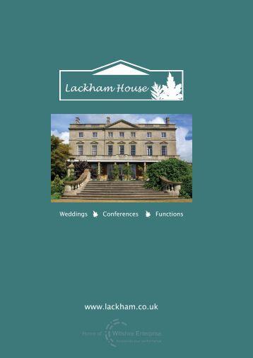 Lackham House Brochure - Lackham Countryside Centre