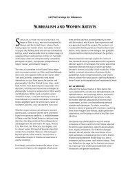 surrealism and women artists - Los Angeles County Museum of Art