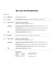 ART AND THE ENVIRONMENT - Los Angeles County Museum of Art