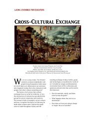 CROSS-CULTURAL EXCHANGE - Los Angeles County Museum of ...