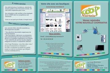 Venez rejoindre VOTRE NOUVELLE ... - La Coop Niortaise