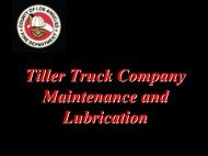 Truck Maintenance and Lubrication