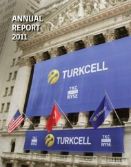 ANNUAL REPORT 2011 - Turkcell