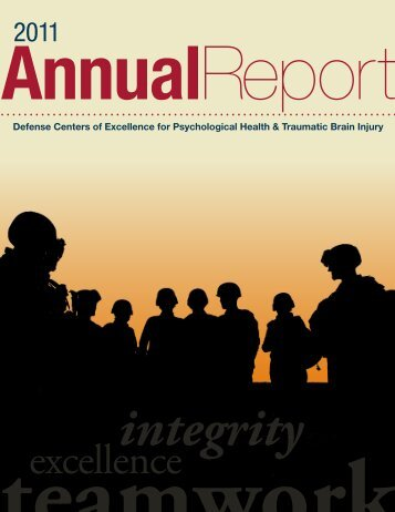 DCoE Annual Report - Defense Centers of Excellence - Health.mil