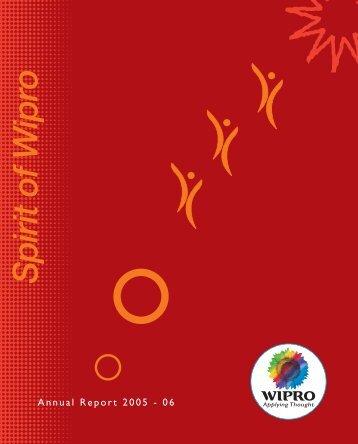 Annual Report 2005 - 06 - Wipro
