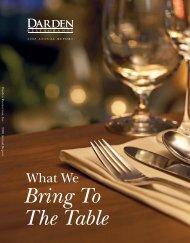 Letter To Shareholders - Investor Relations - Darden Restaurants