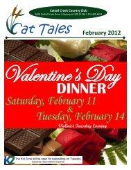 valentine's day dinner - Cattail Creek Country Club