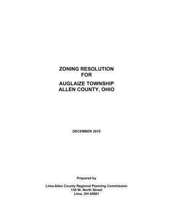 zoning resolution for auglaize township allen county, ohio