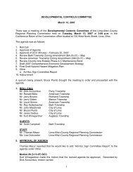 1 DEVELOPMENTAL CONTROLS COMMITTEE March 13, 2007 ...