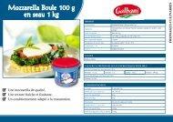 Mozzarella Boule 100 g en seau 1 kg