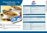 Mozzarella pain 1 kg Santa Lucia