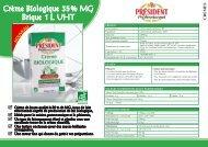 Crème Biologique 35 % MG Brique 1 L UHT