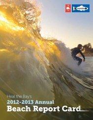 Heal the Bay Annual Beach Report 2012-2013 - LA Differentiated
