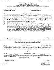 Interpreter Services Statement Pahayag sa Mga Serbisyo ng ...